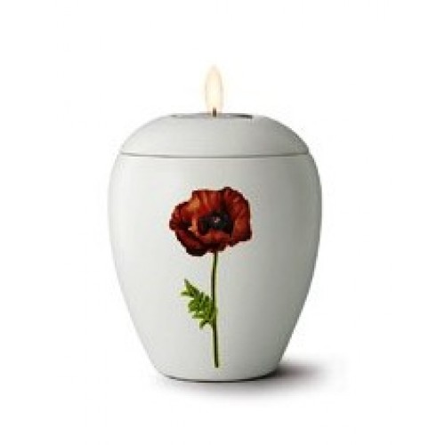 Floral Poppy Design - Candle Holder Keepsake