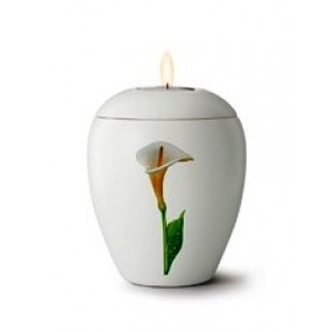 Floral Calla Lily Design - Candle Holder Keepsake