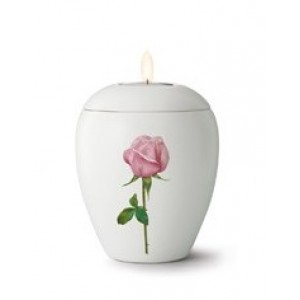 Floral Rose Design - Candle Holder Keepsake