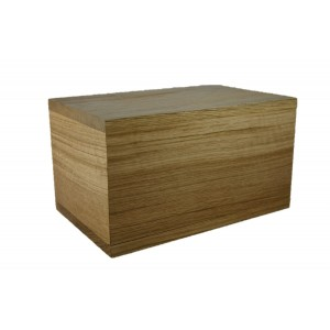 VAULT Solid Oak Cremation Ashes Casket - **SAVE 20%**FREE ENGRAVING**