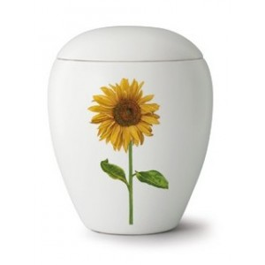 Floral Sunflower Cremation Ashes Urn