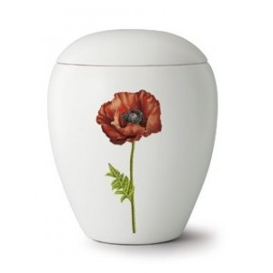 Floral Poppy Cremation Ashes Urn