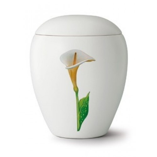 Floral Calla Lily Cremation Ashes Urn