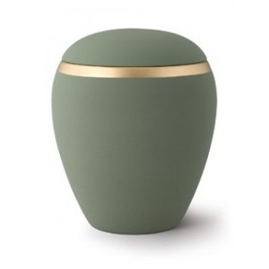 Croma Ceramic Cremation Ashes Urn - Olive Green