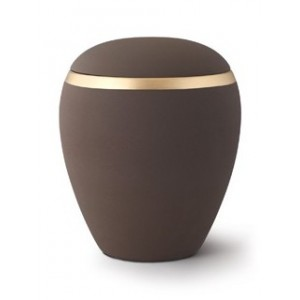 Croma Ceramic Cremation Ashes Urn - Coffee