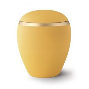 Croma Ceramic Cremation Ashes Urn - Sunflower Yellow