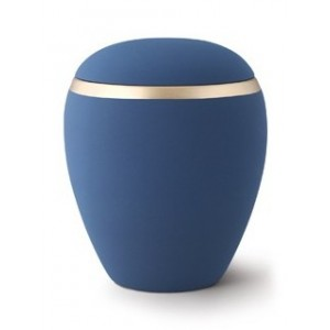 Croma Ceramic Cremation Ashes Urn - Navy Blue