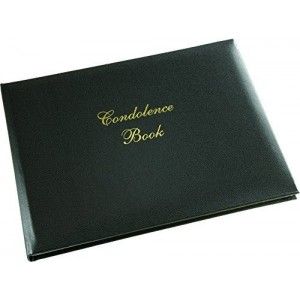 A Lasting Tribute - Black Condolence Book.