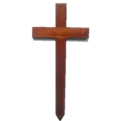 Large Mahogany  Memorial / Grave Marker / Wooden Cross