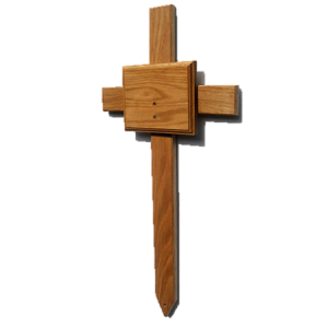 Large Oak Combo Memorial / Grave Marker (FREE ENGRAVING).