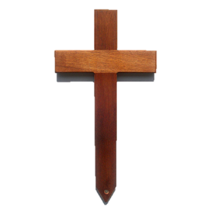 Small Mahogany Grave Marker / Wooden Cross