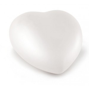 Ceramic Heart Shape Small Cremation Ashes Urn – CHERISHED WHITE - Capacity 1.5 Litres