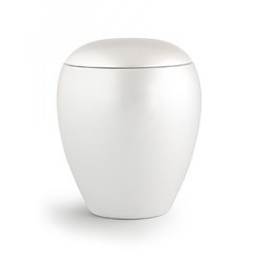 My Little Angel -Small Ceramic Cremation Ashes Urn - CHERISHED WHITE - Capacity 0.5 Litres
