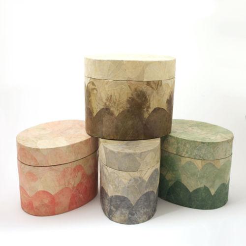 Leaf Urn - OVAL Shape - Choice of Colours