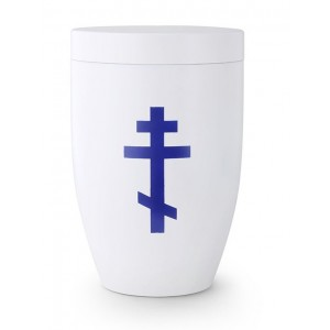 Contemporary Russian Orthodox Cross Design Cremation Ashes Urn