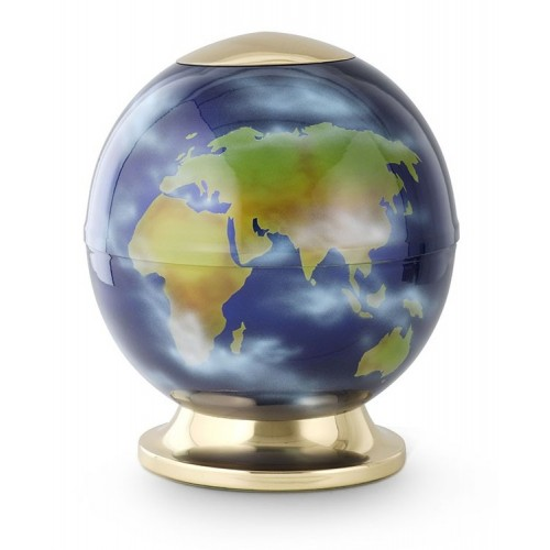 World Globe Unique Planet Cremation Ashes Urn