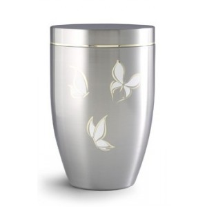 Stellar Range – BUTTERFLY DESIGN Steel Cremation Ashes Funeral Urn