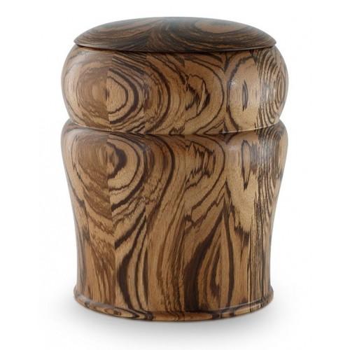 Zebra Wood Cremation Ashes Urn