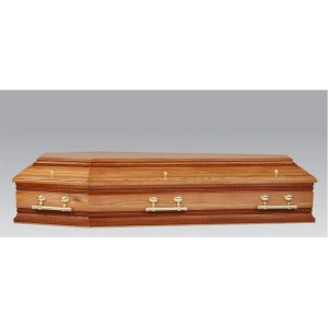 Premium Solid OAK Coffin - The Regency - Two Tone High Gloss Finish