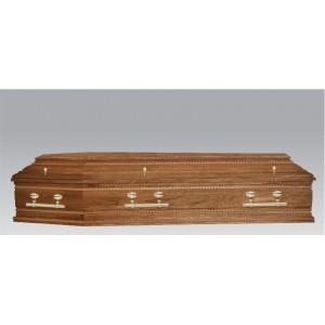 Premium Solid OAK Coffin - The Regency