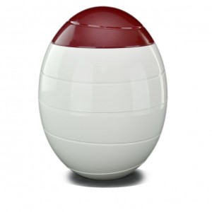 White & Red 'INFINITY' Cremation Ashes Urn (Beautiful Natural Funeral Products)