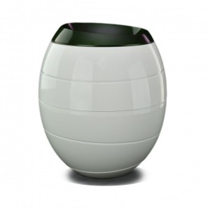 White & Green 'INFINITY' Biodegradable Urn (Last Few Remaining)