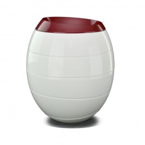 White & Red 'INFINITY' Cremation Ashes Urn (From NATURE to NATURE...)