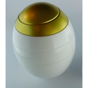 White & Gold 'INFINITY' Biodegradable Cremation Ashes Urn (Inc FREE Carry Case)