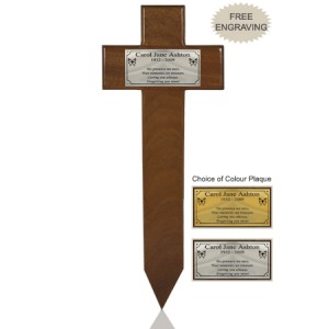 Dark Oak Memorial Marker. FREE ENGRAVING