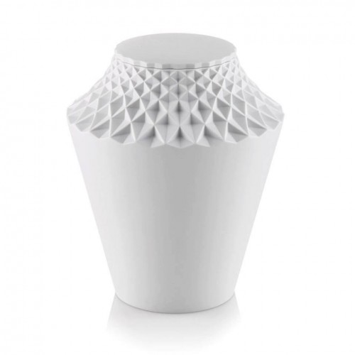 Porcelain Cremation Ashes Urn (Geometric Design) - THE LOTUS BLOSSOM
