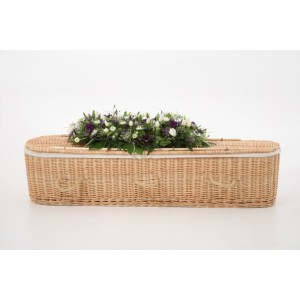 Autumn Gold Premium Wicker / Willow (Oval) Coffin - Beautiful Natural Products at Discount Prices