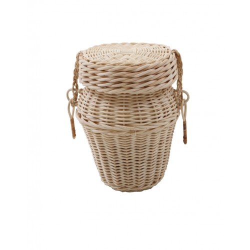 Cane Round Cremation Ashes Casket - Discount prices Direct-to-the-Public