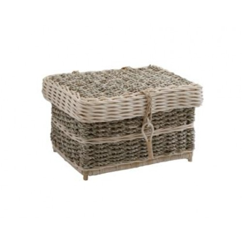 Seagrass Oblong Cremation Ashes Casket.- Low cost urn prices
