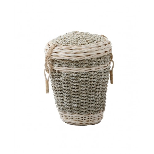 Seagrass Round Cremation Ashes Casket - Very High Quality, Cheapest Urn Prices