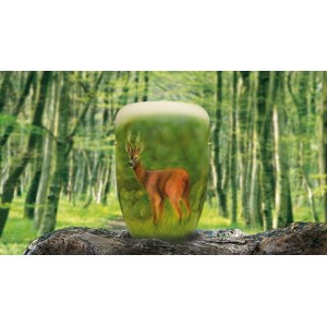 Biodegradable Cremation Ashes Funeral Urn / Casket - ROE DEER