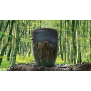 Biodegradable Cremation Ashes Funeral Urn / Casket - WILD BOAR
