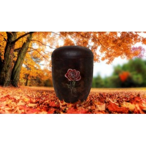 Biodegradable (Brown) Cremation Ashes  Urn / Casket - FLOWERING ROSE