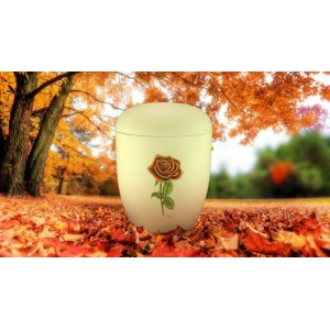 Biodegradable (Cream) Cremation Ashes Urn / Casket - THE ROSE