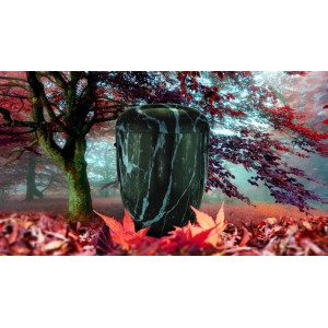 Biodegradable Cremation Ashes Funeral Urn / Casket - NATURAL DARK MARBLE EFFECT
