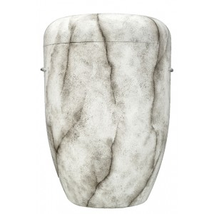 Biodegradable Cremation Ashes Funeral Urn / Casket - NATURAL WHITE MARBLE EFFECT