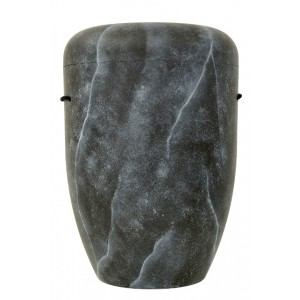 Biodegradable Cremation Ashes Funeral Urn / Casket - NATURAL BLACK MARBLE EFFECT