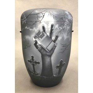 Biodegradable Cremation Ashes Funeral Urn / Casket – IMPOSSIBLE WILL (Graffiti Art Design)