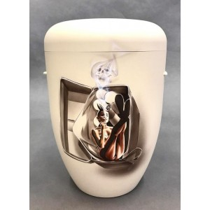 Biodegradable Cremation Ashes Funeral Urn / Casket – GOTHIC (Graffiti Art Design)