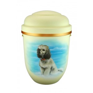 Biodegradable Cremation Ashes Funeral Urn / Casket - POODLE (Dozens of other designs available...)