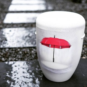 Biodegradable Cremation Ashes Funeral Urn / Casket – AFTER THE RAIN... SUNSHINE