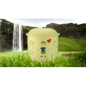 Children's (Boy / Girl / Child) Cremation Ashes Urn -  BOY with BALLOON
