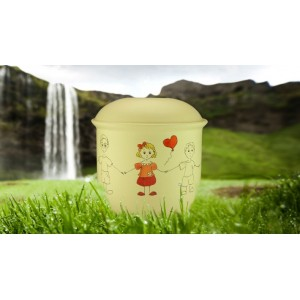 Children's (Boy / Girl / Child) Cremation Ashes Urn - GIRL with BALLOON