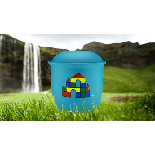Children's (Boy / Girl / Child) Cremation Ashes Urn - LEGO CASTLE