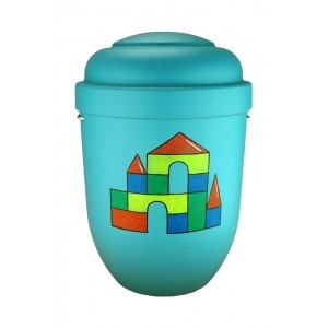 Cremation Ashes Urn (Children's / Boy / Girl / Child) - COLOURFUL LEGO CASTLE