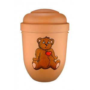 Cremation Ashes Urn (Children's / Boy / Girl / Child) - TEDDY BEAR with BIG HEART